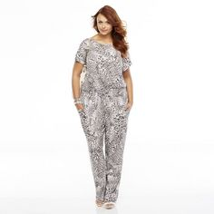 White and Black Leopard Jumpsuit by JLO by Jennifer Lopez. Buy for $35 from Kohl's