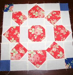 Love this block from Made by Mum, no instructions but should be easy to figure out