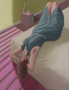 Figurative painter Prudence Flint via VICE magazine.