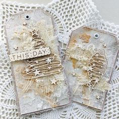 ideas for shabby chic christmas tags mixed media Christmas Mix, Shabby Chic Christmas, Christmas Gift Tags, Xmas Cards, Christmas Crafts, Christmas Ideas, Christmas Journal, Shabby Chic Duvet, Shabby Chic Art