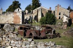 Nazi attack upon the martyr village of Oradour-sur-Glane inFrance during WWII. This atrocity was carried out on Saturday 10th June 1944 by soldiers of the Der Führer Regiment of the 2nd Waffen-SS Panzer Division Das Reich. On that day they killed a total of 642 men, women and children and destroyed the entire village without giving any reason for their action to the inhabitants and to this day there is no universally accepted explanation for the massacre. Only six people survived.
