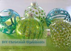 DIY Christmas Ornament Tutorial - Glitter!