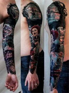 Alice In Wonderland Tattoo- OMG! So close to what I want. Love Johnny Depp as the mAd hatter