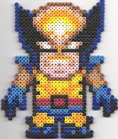 Wolverine - Perler Beads by ~JackalopeDesigns