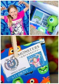 A Scary Fun Monsters University Party - top left, taking pictures of all the kids' best scare faces!