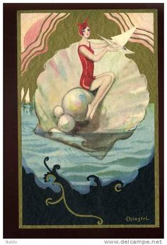 lady with shell.