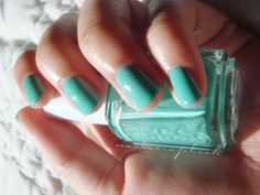 Turquoise nails..... Ive done this color... Too fun. Had bunches of compliments... :D