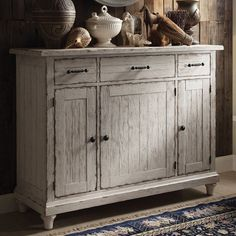 Store your extra dinnerware, flatware, and table linens in a buffet table or sideboard. Shop our great selection of stylish buffet tables and sideboards. Riverside Furniture, Furniture Placement, Sideboard Buffet, Sideboard Ideas, Buffet Tables, Wood Dust, High Quality Furniture, Furniture Manufacturers, Furniture Companies