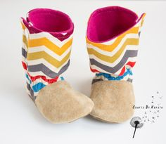 Baby Boots Slippers Shoes - Non-Slip Soft Soles - Size US 4/5 on Etsy, $40.00