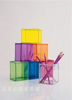 colored organizers for markers, pencils, etc.  10rmb.