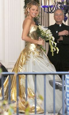 Serena in Georges Chakra Spring 2012 couture ball gown.  Wedding dress!