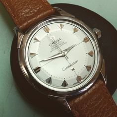 New in stock 1955 omega constellation chronometer with bold baton marker popular model if you can find a good example. #omegawatch #omegaconstellation #constellation #omegapiepan #chronometer #omega #omegachronometer ##VintageWatchesOnly #omegamania #classicomega
