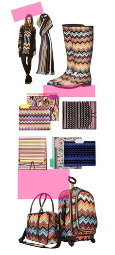 Managed to snag a pair of Missoni for Target pumps this morning (the ones the model is wearing top left).  There was straight up mayhem...snatching items from the Target Employees, name-calling...etc.  I was there at 9:00 and the whole store was wiped out.