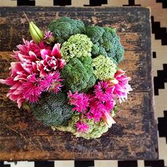 Broccoli in a flower arrangement! It actually kinda works!