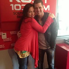 Look who stopped by @Michael Dussert Buble @Barb Day 103.5 #itsabeautifulday - @Kristin Plucker Cruz- #webstagram