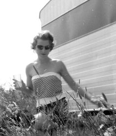 Since the 1940s sunglasses have been popular as a fashion accessory, especially on the beach.