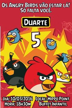 Convite digital personalizado Angry Birds 005