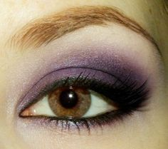 For lighter brown eyes, try a plum shadow