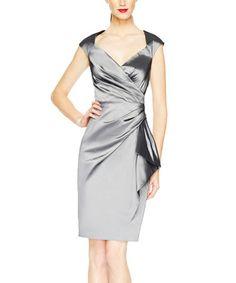 This Steel Taffeta Wrap Dress - Women is perfect! #zulilyfinds
