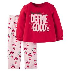 5471b271f Toddler Girls' Fleece Pajama Set Red Define Good - Just One You™ Made by