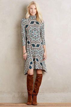 Turtleneck Swing Dress - anthropologie.com