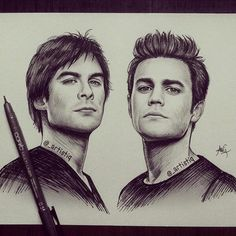The Salvatore brothers (found on Twitter,credit to: artistiq)