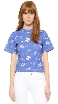 Anna K Printed T-Shirt - Blue | SHOPBOP saved by #ShoppingIS