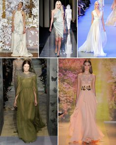 The Grecian Bride:  Spring/Summer 2014 Haute Couture Round-Up:  Bridal Party Trends for 2014.  Created exclusively for www.lovemydress.net.