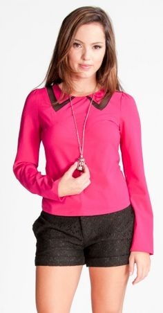 Forever Fuchsia Blouse - Tops | Hoddy Shop