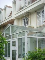 prefabricated glass house,winter garden,sunroom panels for sale