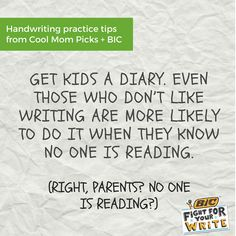Handwriting practice for kids: Diaries and journals work!