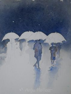 Bad weather – Art by Anja Weather Art, Watercolor, Painting, Pen And Wash, Watercolor Painting, Painting Art, Watercolour, Paintings, Painted Canvas