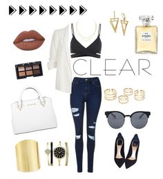 """""""Sem título #11"""" by carolina-schmitz on Polyvore featuring moda, Topshop, L*Space, River Island, Christian Dior, Michael Kors, Lana, Lydell NYC, Anne Klein e Chanel"""