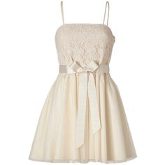 Pre-owned Red Valentino Ivory Lace Tulle Bow Dress (€285) ❤ liked on Polyvore featuring dresses, ivory, ivory lace dress, white sleeveless dress, white dress, ivory cocktail dress and ivory dress