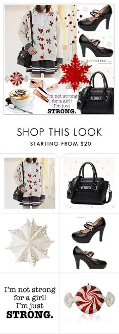 """Holiday Shopping Guide @ yesstyle"" by selmagorath ❤ liked on Polyvore featuring Charlotte Tilbury, BeiBaoBao, Dot & Bo, Hannah, Judith Leiber, Christmas, yesstyle and winteressentials"