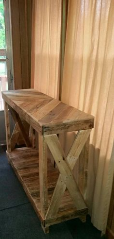 Another great idea for the entryway! These have also been used as a TV stand as well as a sofa table. Dimensions are 40x36x16 but can be made to fit your needs. (Pricing may vary.) **Some assembly req