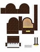 Para imprimir e montar! FREE printable paper art doll house furniture ...
