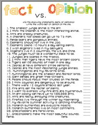 Printables Fact Vs Opinion Worksheets fact opinion bingo and other cooperative learning games vs so important now that my school has an informational text sheet that