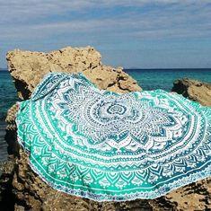 round Indian Mandala cotton printed throw roundie beach shawl suncreen shawls yoga mat tablecloth home decor YOUNGER STORE YG055
