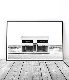 Fashion Wall Art Prada Poster Prada Marfa Print Fashion