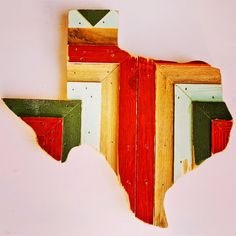 Hemlock and Heather - Texas wall hanging made from reclaimed wood found in Austin, Texas