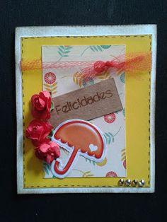 Lindo cartão que a Taty Paganoto fez com o kit de Stickers da Scrappiness Designs!!