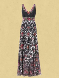 Victorian Roses Dress by Michael Negrin