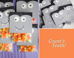 Fun Halloween treat bags. Re-create your own version using Avery 22821 bags and printable toppers.