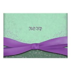Spring Purple and Green Wedding Reply Cards Custom Invitations