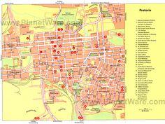 Pretoria Map - Tourist Attractions