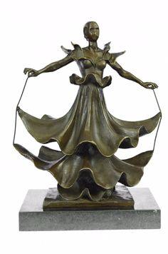 Bronzioni  Handmade European Bronze Sculpture Collectible Rare Dali Dalinian Dancer Museum Quality Art Statue -UKXNAB-134-Decor Collectible Gift