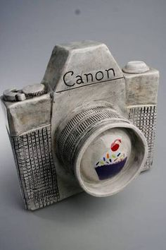 Canon Camera Wall Hanging - Ceramic Peices - POTTERY, CERAMICS, POLYMER CLAY