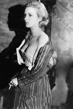 Jean Seberg on the set of Paint Your Wagon, 1969.