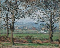 "Camille Pissarro (1830-1903) ~ ""Near Sydenham Hill"" ~ Oil on Canvas 1871 ~ Kimbell Art Museum, Fort Worth, Texas"